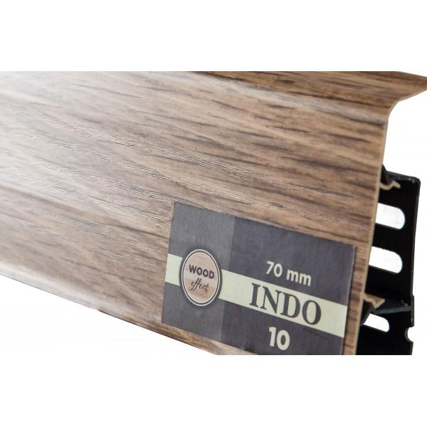 Плинтус напольный Indo 10, Дуб Бурбон